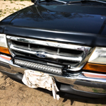 Ford Ranger Auxbeam LED light bar hidden grill mount